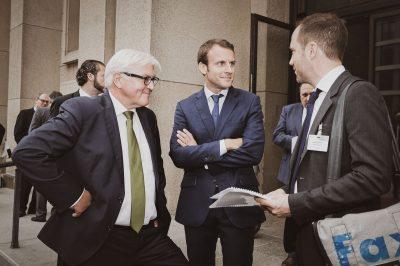 Emmanuel Macronals Aussenminister im Auswertiges Amt Berlin