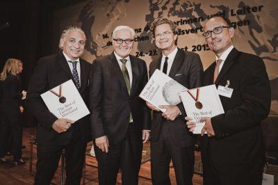 The Best of German Mittelstand Auswertiges Amt Berlin Frank-Walter Steinmeier mit Florian Langenscheidt