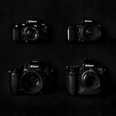 4 x Nikon bodys F5, F4 , F90, F801