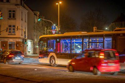 Köln - Bickendorf Nachtleben ruht am Samstag leere Busse